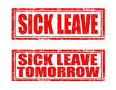 Sick leave-stamps — Stock Vector