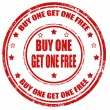 Buy one get one free-stamp — Stock Vector