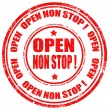 Open non stop-stamp — Stock Vector