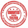 Guaranteed and tested-stamp — Stock Vector