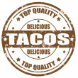 Stock Vector: Tacos-stamp
