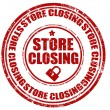 Store closing-stamp — Stock Vector