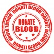 Stock Vector: Donate blood-stamp