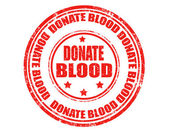 Donate blood-stamp — Stock Vector