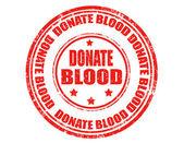 Donare sangue-timbro — Vettoriale Stock