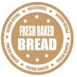 Stock Vector: Fresh bread label