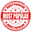 Stock Vector: Most popular-stamp