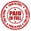 Stock Vector: Paid in full-stamp