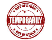 Temporarily-stamp — Stock Vector