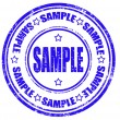 Stock Vector: Sample -stamp