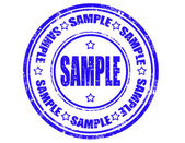 Sample -stamp — Stock Vector