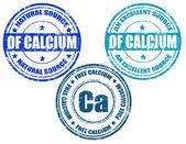 Calcium-stamps — Stock Vector