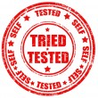 Tried-Tested -stamp — Stock Vector