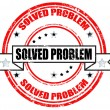Stock Vector: Solved problem-stamp