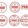 Proof - stamp — Vector de stock #27125575