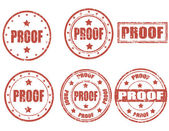Proof - stamp — Stock Vector