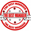 The best manager — Stock Vector