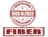 Fiber-stamp — Stock Vector