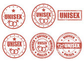 Unisex-stamps — Stock Vector