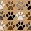 Stock Vector: Animal paws