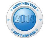Gott nytt år 2014-etikett — Stockvektor