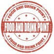 Food and drink point stamp — Stok Vektör