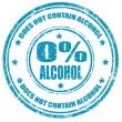 Not contain alcohol-stamp — Stock Vector #28821173