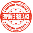 Employee freelance-stamp — Vettoriali Stock