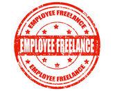 Employee freelance-stamp — Stock Vector