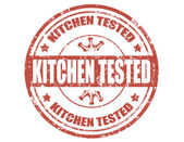 Kitchen tested-stamp — Stock Vector