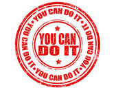 You can do it-stamp — Stock Vector