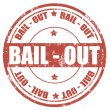 Bail out-stamp — Stock Vector