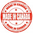 Made in Canada-stamp — Stock Vector