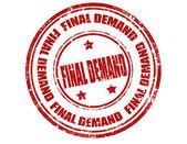 Final demand-stamp — Stock Vector
