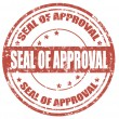 Stock Vector: Seal of approval-stamp