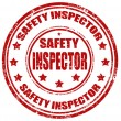 Stock Vector: Safety inspector-stamp