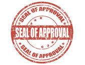 Seal of approval-stamp — Stock Vector