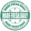 Stock Vector: Made fresh daily-stamp