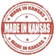 Made in Kansas-stamp — Stock Vector