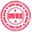 Stock Vector: Good value-stamp