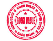 Good value-stamp — Stock Vector