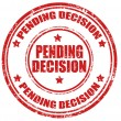 Pending decision-stamp — Stock Vector
