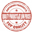 Quality products-stamp — Stockvectorbeeld