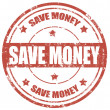 Save money-stamp — Stockvectorbeeld