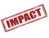 Impact-stamp — Stock Vector
