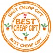Stock Vector: Best cheap gift-stamp