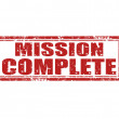Mission complete-stamp — Stockvectorbeeld
