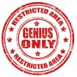 Stock Vector: Genius only-stamp