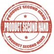 Stock Vector: Product second hand-stamp