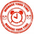 Manage your time-stamp — Stock Vector